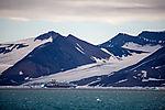 cruiseship Le Boreal on Svalbard