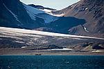 sailship in Hornsund on Svalbard