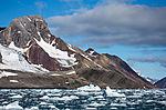 bunte Geologie auf Spitzbergen