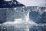 glacier calving at Samarinbreen