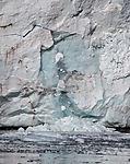ice falling off Samarinbreen