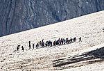 tourists on Kvasseggbreen