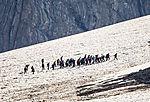 Touristen auf Kvasseggbreen