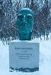 Roald Amundsen bust in Tromso