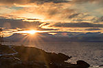 arctic morning sun