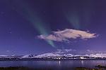 Nordlicht mit Wolke