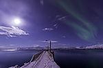 Nordlicht am Schiffsanleger
