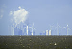 wind power and coal power plant in Eemshaven