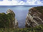 Westseite von Helgoland von See gesehen