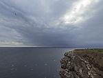 Regenwolken bei Helgoland