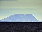 windpark on island Vannöya