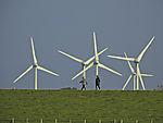 wind power behind dike