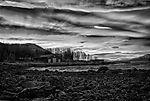 arctic dawn HDR black & white