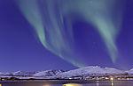Nordlichtbogen über Kvaløya