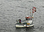 fishing boat on Kiel Bay
