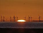 sunrise and windmills