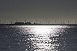 island Gröde and windmills on mainland