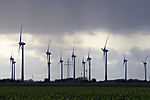 wind power and high voltage power line