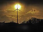 windmill and evening sun