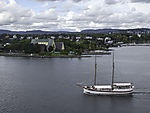Segelschiff Helena vor Museumshalbinsel Bygdöy in Oslo