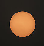 red sun over Hamburg after forest fire in Portugal and Spain