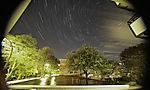 night sky over Hamburg startrails