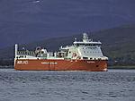 cargo ship Kvitnos powered by natural gas