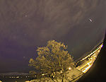 meteorite of Leonides over Tromso