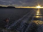 sunset seen from coastal steamer