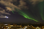 Christmas aurora over Tromso