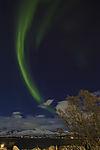 Nordlichtbogen über Kvalöya