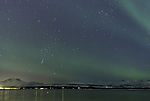 Nordlicht mit Orion und Stier