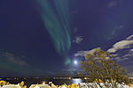 Mondnordlicht über Tromsö