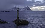 monument in harbour of Svolvär