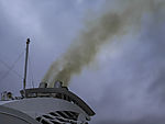 ships exhaust over Oslofjord