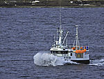 fishing boat and waves