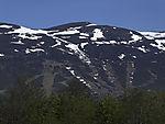 ski slope in spring