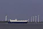 Autotransporter Viking Odessa in Emsmündung