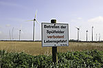 Spülfeld am Windpark