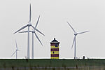 lighthouse named after artist Otto and wind power