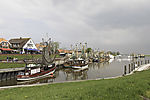 fishing boats in Greetsiel harbour