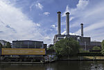 combined heat and power station at river Spree