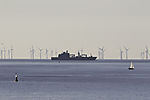 wind park and ships near island Helgoland