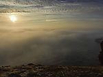 Nebelabend bei Helgoland