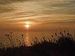 Sonnenuntergang bei Helgoland