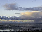 evening clouds over island Norderney