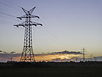 pylons in dusk