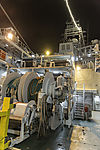 working deck on icebreaker Kronrins Haakon