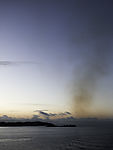 Schiffsabgase über Oslofjord