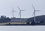 wind power on island Langeland